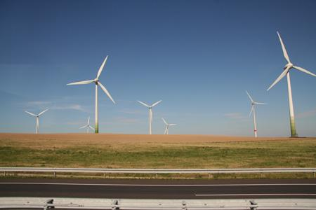 wind turbines farm alternative energy source original
